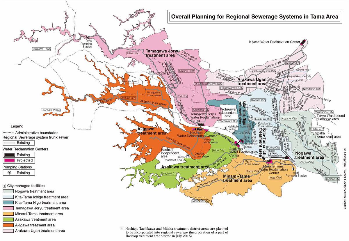 4 Regional Sewerage System in Tama Area Bureau of Sewerage Tokyo